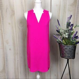 Amanda Uprichard Neon Pink Silk Shift Dress